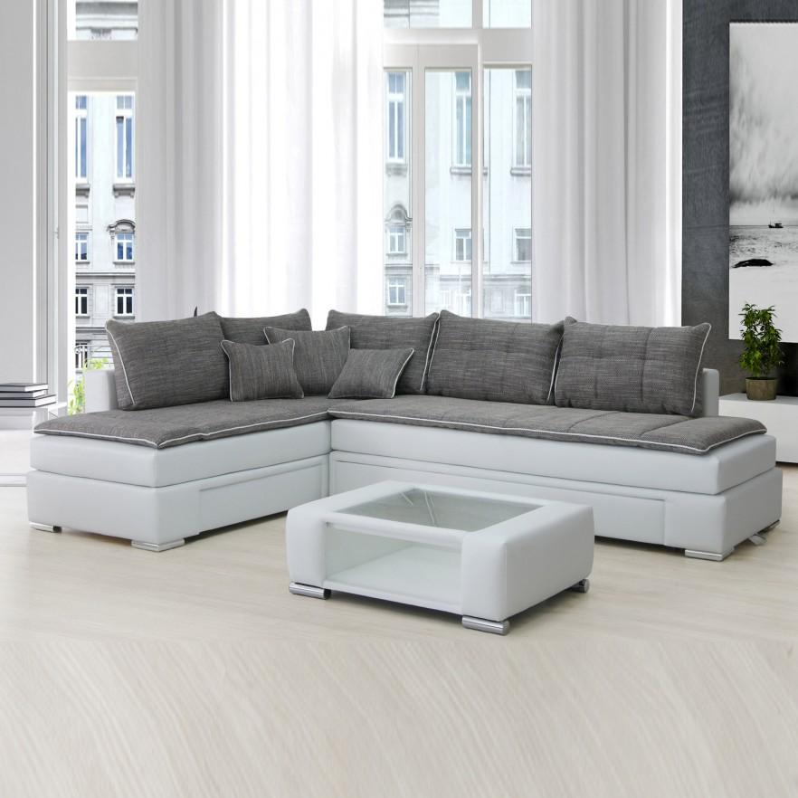 Scandinacvian corner sofa - with grey top