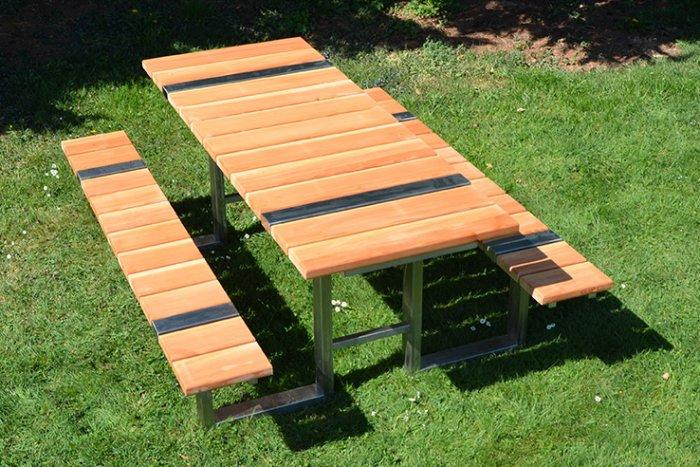 Solid picnic table - for outdoor use
