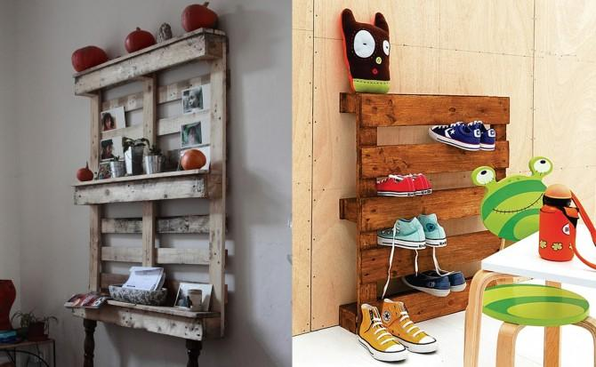 Storage pallet shelves - for shoes and stuff