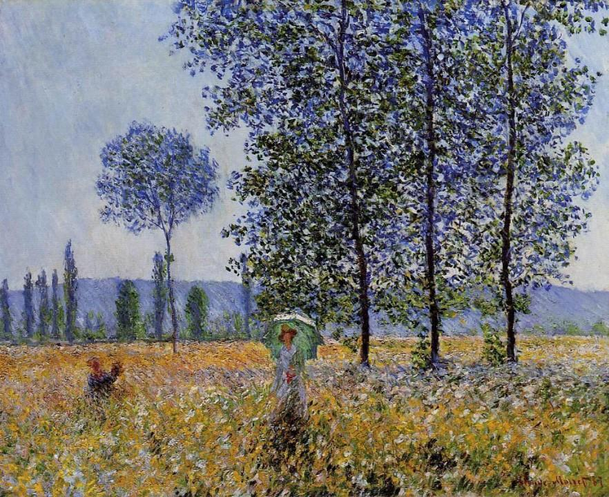 Sunlight Effect Under The Poplars - Claude Monet