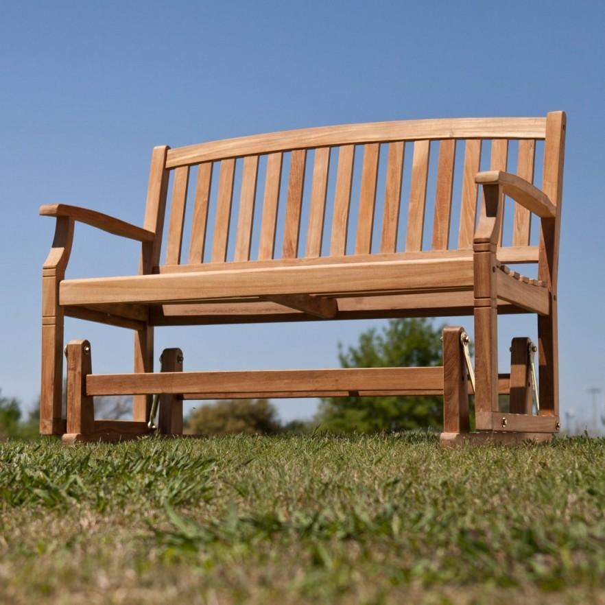 Teak outdoor bench - for patio