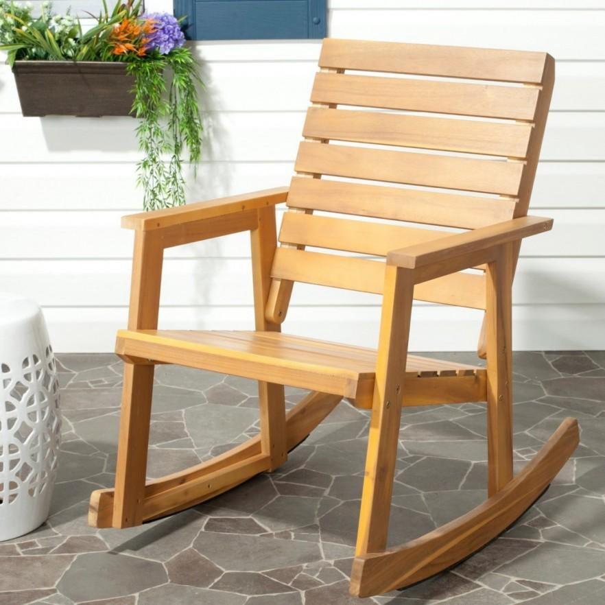 Teak outdoor chair - rocking chair