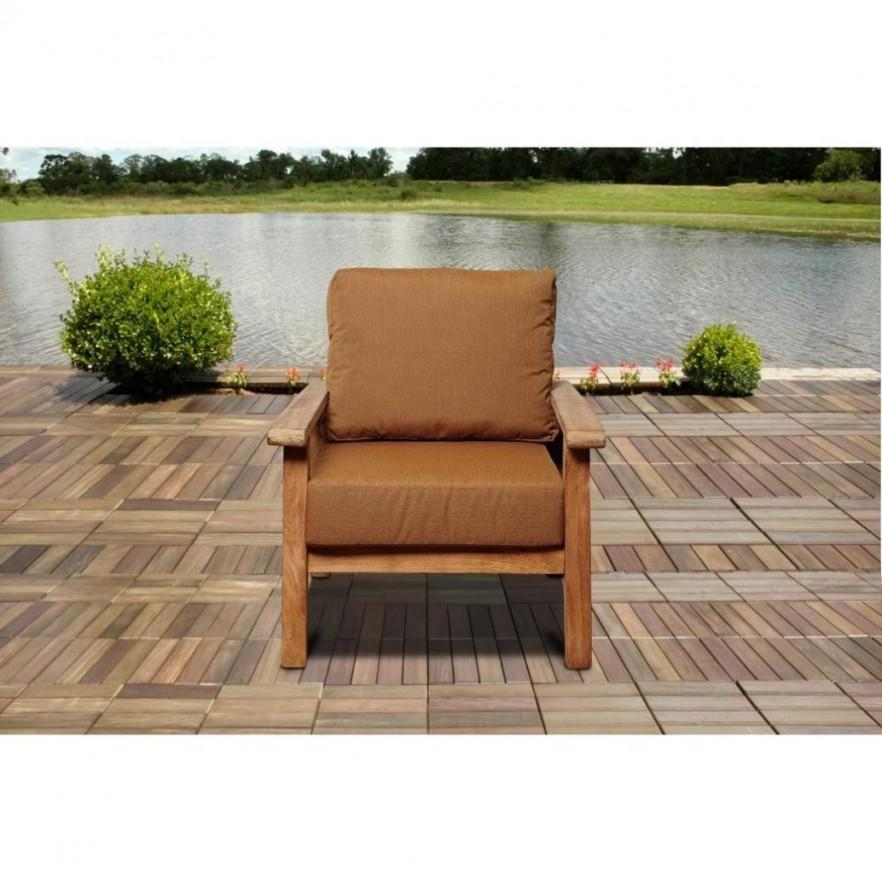 Teak outdoor chair - with comfortable seat