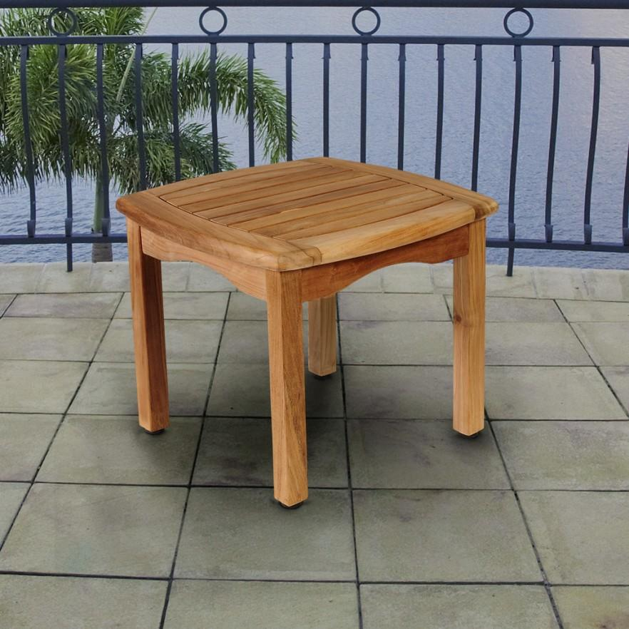 Teak outdoor and patio furniture ideas founterior for Petite table decorative