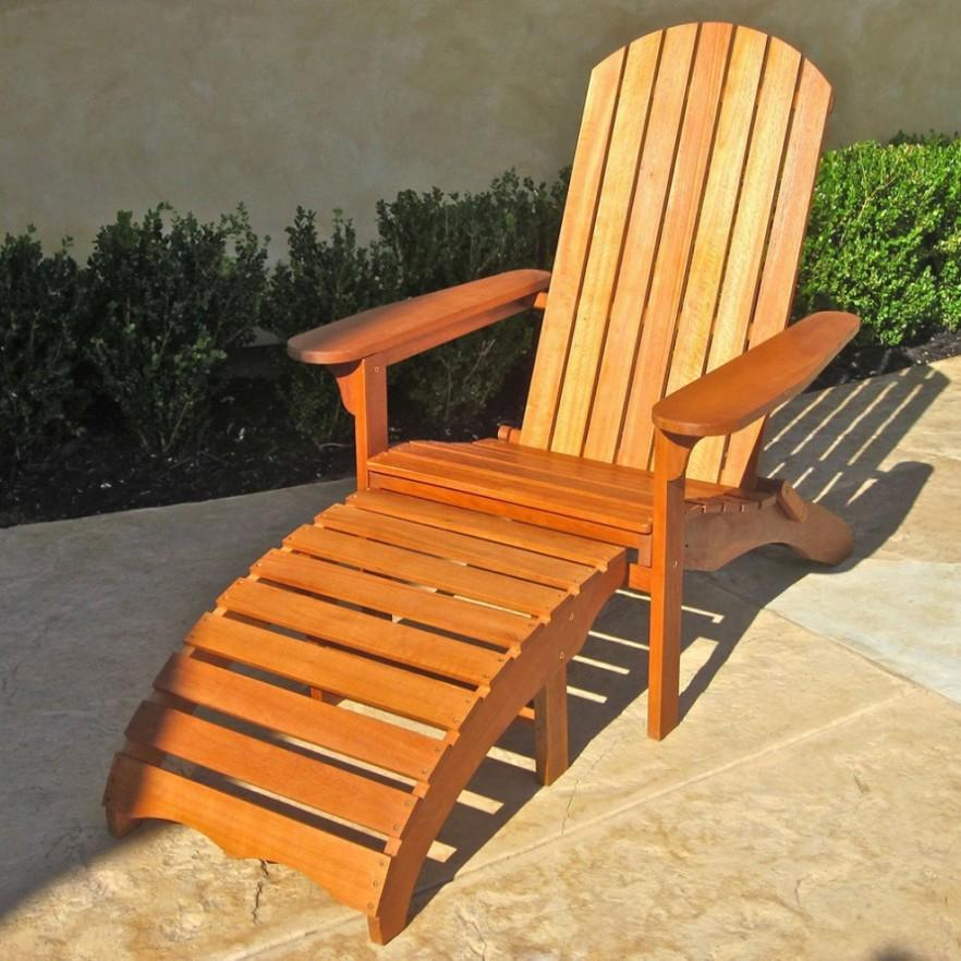 Teak patio lounge - for relaxation