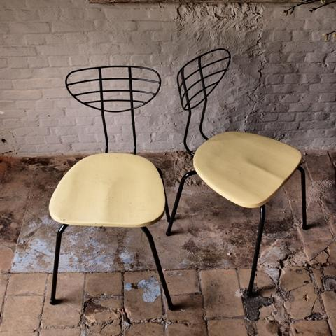 Industrial mid-century modern chairs