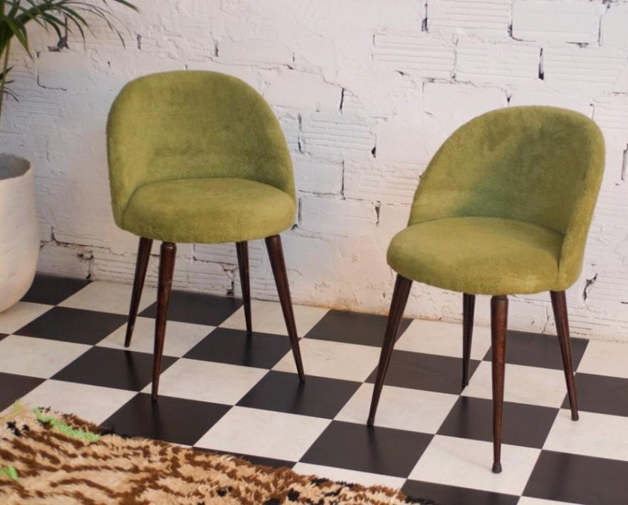 Green Vintage chairs 4