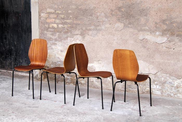 Wooden chairs with French design