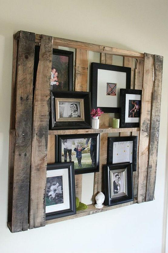 Wall pallet shelf - for images