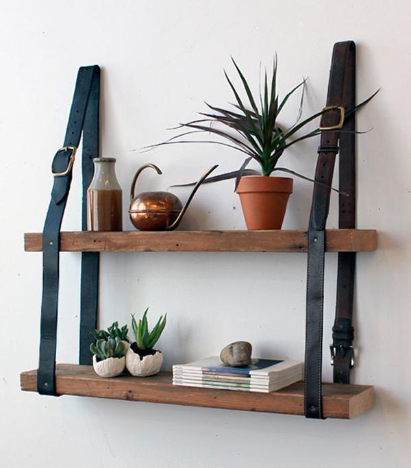 Wall pallet shelves - for living room