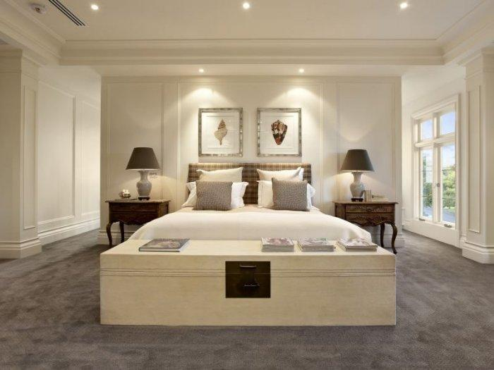 White fitted bedroom - with traditional bed