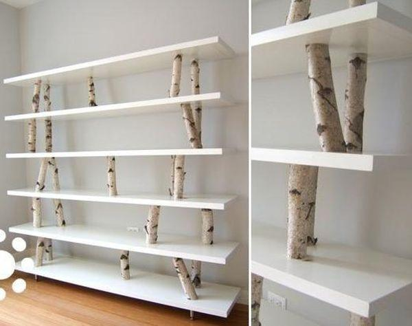 White pallet shelf - for decoration
