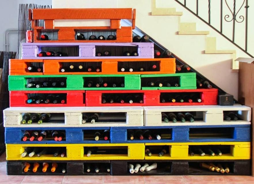 Wine pallet rack - for storing bottles