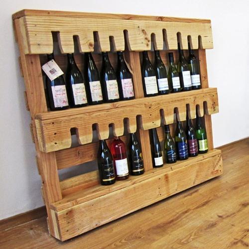 Wine pallet shelf - for storing bottles