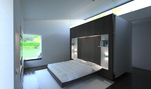 A Beautiful Touch From A Deep Forest - Contemporary Modern House in the UK - London Area: bedroom design contemporary modern building residential house home