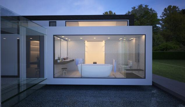 A Beautiful Touch From A Deep Forest - Contemporary Modern House in the UK - London Area: contemporary modern building residential house home Bathroom