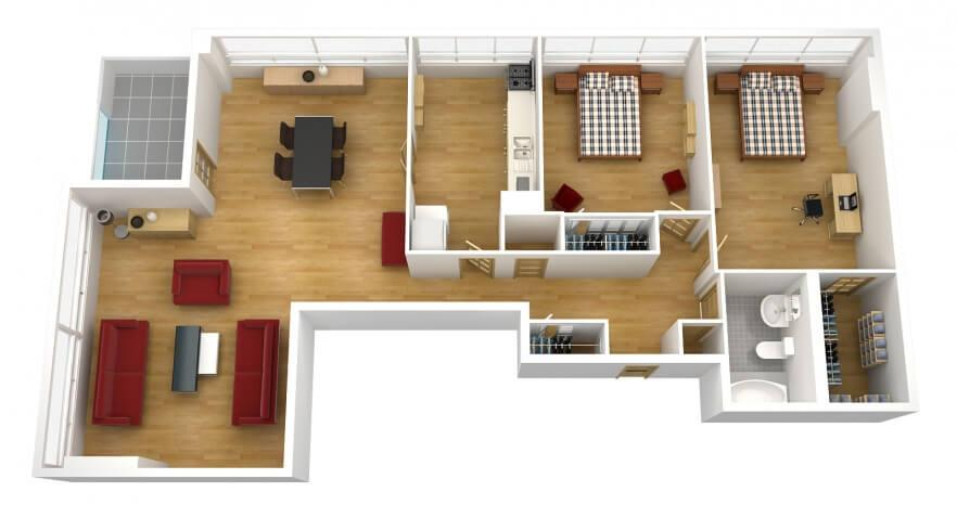 The power of the panoramic founterior Room layout grid