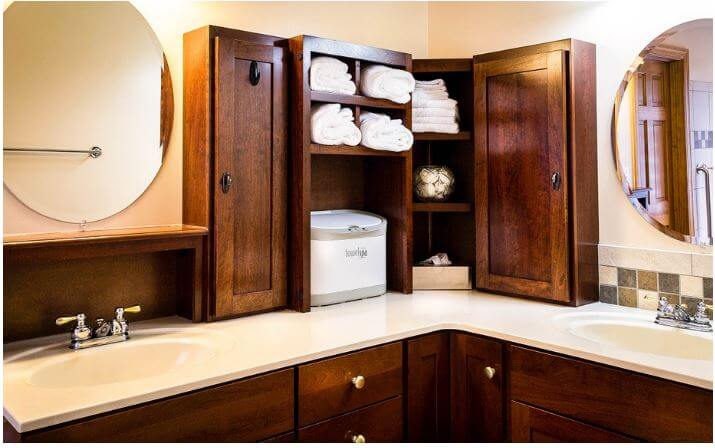 How To Improve Your Bathroom Design: Cabinet Fun