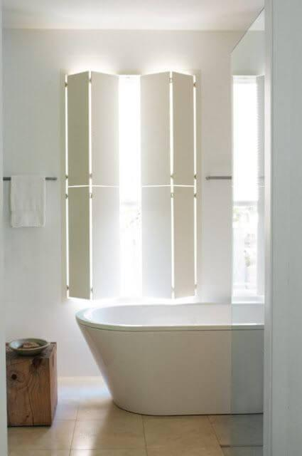 Shutters or Curtains. Know The Pros and Cons: contemporary wood shutters