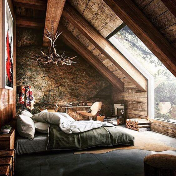 Good To Know Before Building A Log Cabin: Logcabin Bedroom