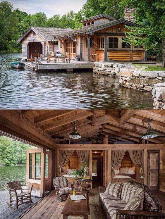 Good To know before building a log cabin: log cabin on lake