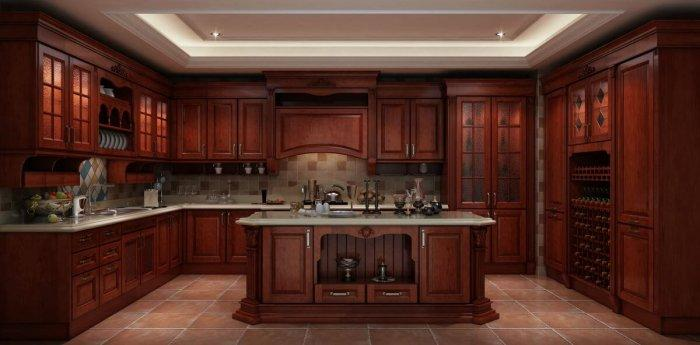 An insight into solid wood kitchen cabinets founterior for Solid wood kitchen cabinets