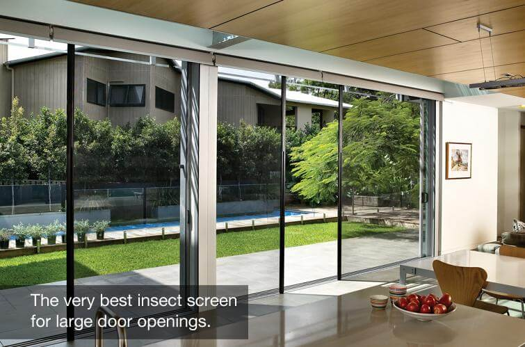 Three Ways That You Can Enjoy Opening Your Home For Fresh Air: sliding insect mesh contemporary