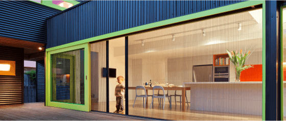 long sliding door and insect mesh contemporary