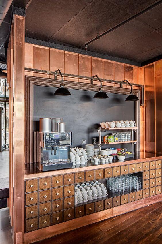 Ways To Add Oomph to Your Office:  coffee bar