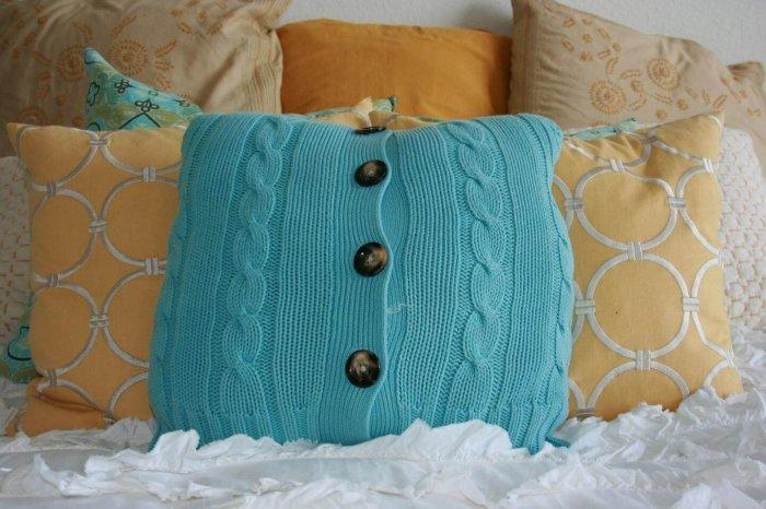 Decorative Pillows - a Perfect Touch To Interior Design: Pillow made out of recycled clothing