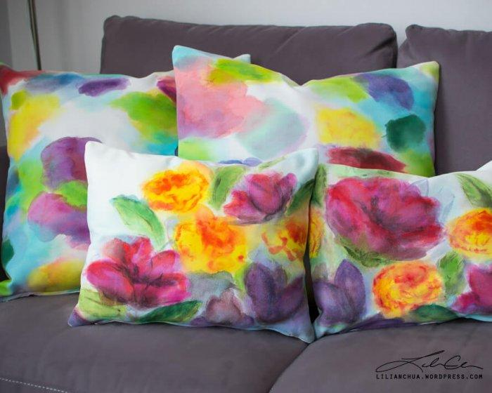 Decorative Pillows - a Perfect Touch To Interior Design: Painting-like pillows
