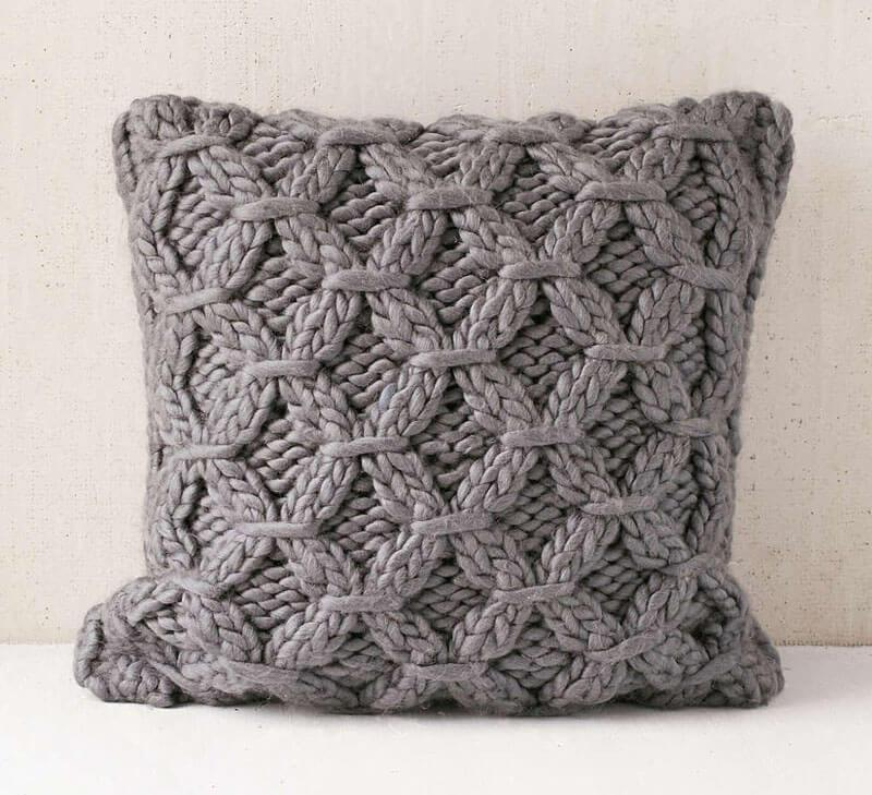 Decorative Pillows - a Perfect Touch To Interior Design: Knitted pillow