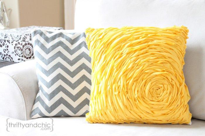 Decorative Pillows - a Perfect Touch To Interior Design: Rosette-styled pillow