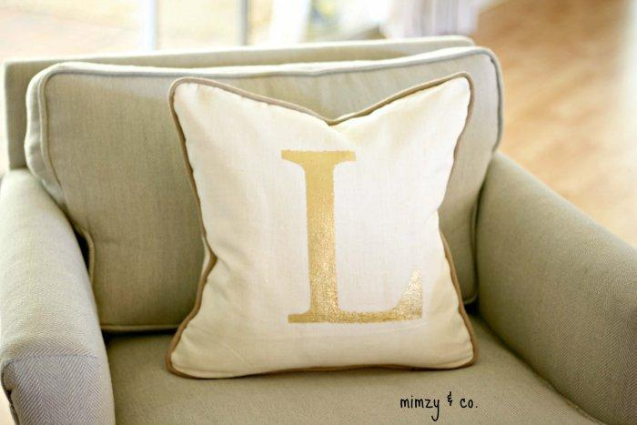 Decorative Pillows - a Perfect Touch To Interior Design: Pillows with monograms