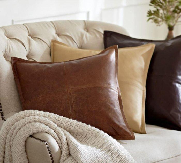 Decorative Pillows - a Perfect Touch To Interior Design: Leather pillows