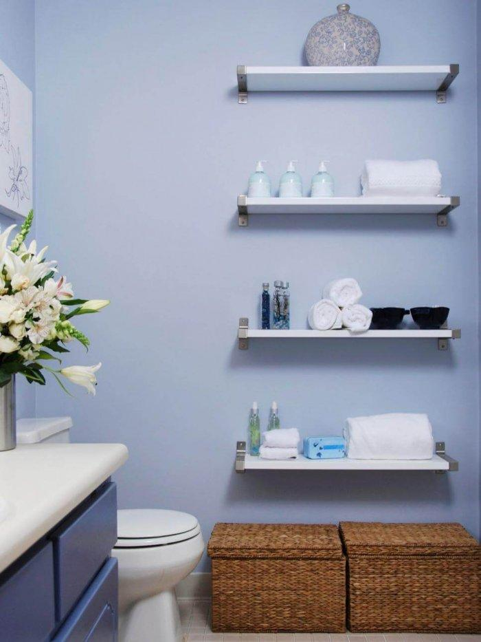 Bathroom Organization Tips To The Rescue: Floating Shelves