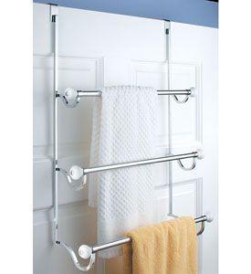 Bathroom Organization Tips To The Rescue: Door Hangers