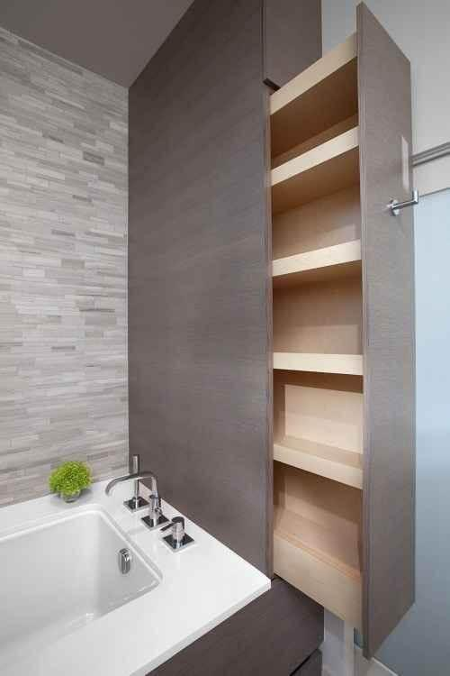 Bathroom Organization Tips To The Rescue: Hidden Storage