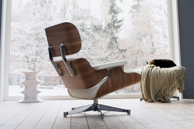 How to Design an Eames-Inspired Living Room: Eames lounge chair white