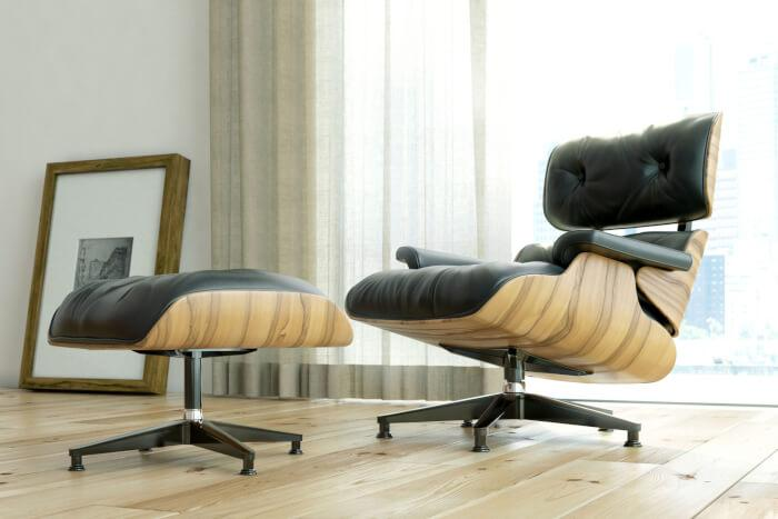How to Design an Eames-Inspired Living Room: Eames lounge chair