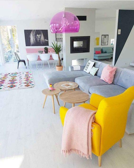 A Retro Vibe - Apartment Living Room Ideas