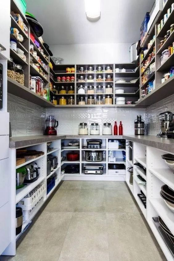 Counters and Wall Cabinets – Small Pantry Organization