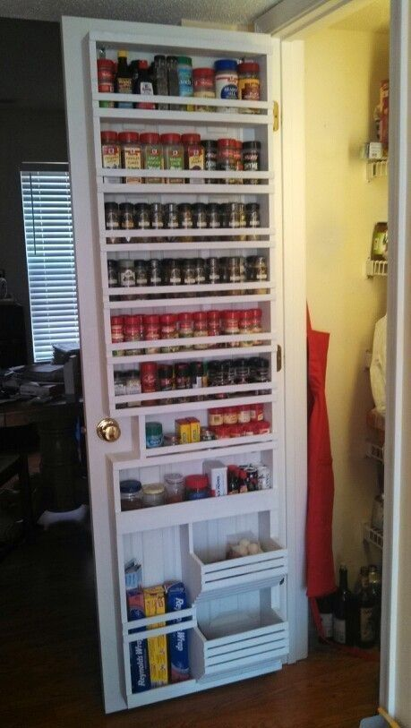 Creating a Spice Rack - Kitchen Pantry Shelving Ideas