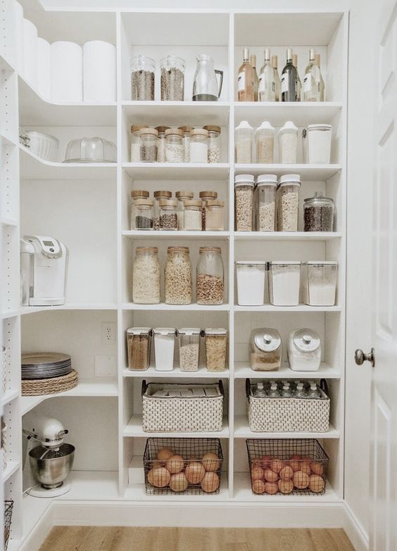 Clean and Simple - Kitchen Pantry Shelving Ideas