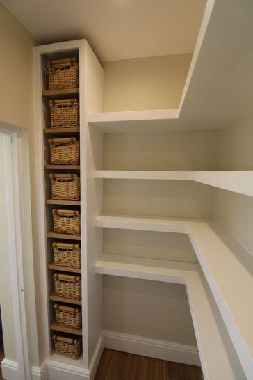 Floating Shelves – Awesome Small Pantry Organization