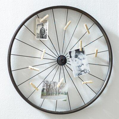 A Bicycle Wheel - Homemade Wall Decoration Ideas