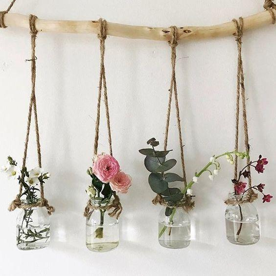 Flowers in Jars - Pretty and Earthy