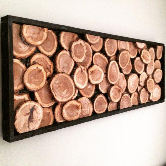 Log Slices - Homemade Wall Decoration Ideas