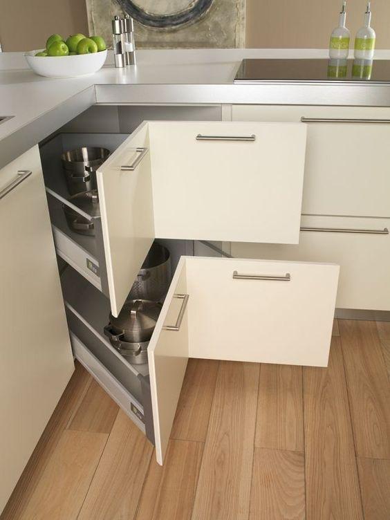 Corner Drawers - Kitchen Cabinet Storage Ideas
