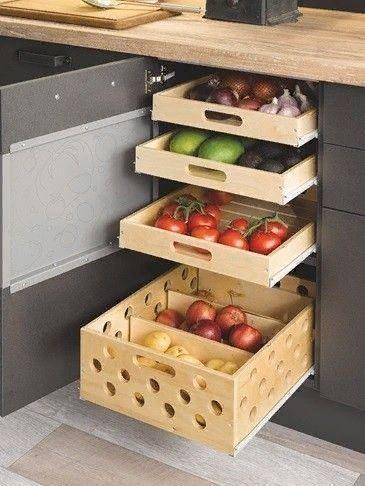 Fruits and Vegetables - Wooden Boxes with Holes